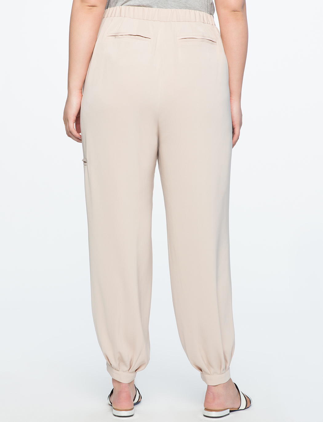 Pleated Gathered Ankle Pant