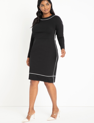 Piped Midi Dress