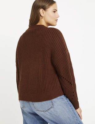 Sweater with Pointelle Detail