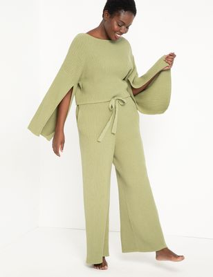 Wide Leg Sweater Pant
