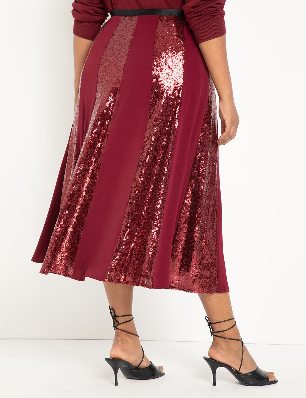 Sequin Skirt with Godets