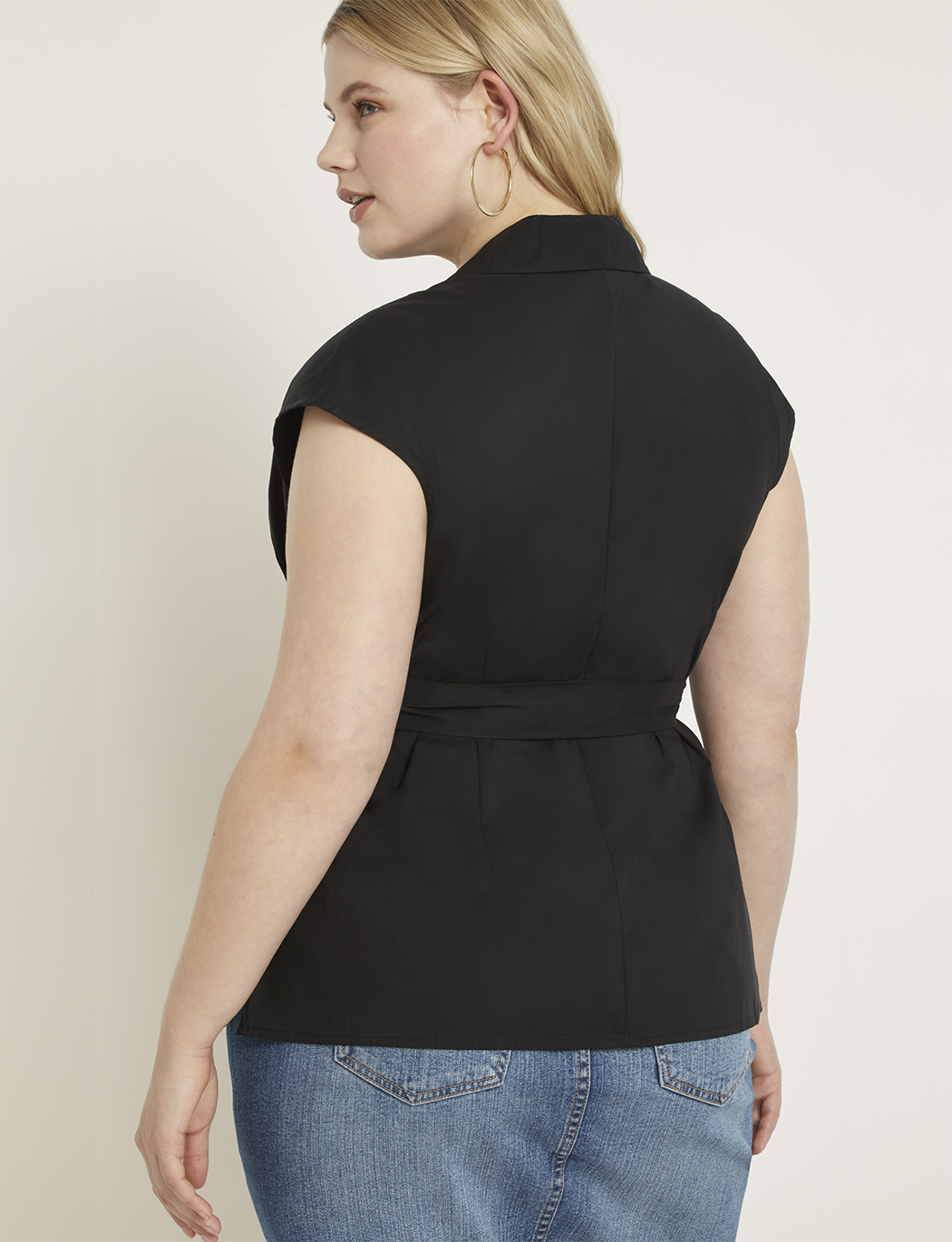 Belted Cap Sleeve Top
