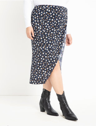 Mixed Print Soft Skirt