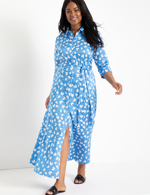 Printed Maxi Shirtdress