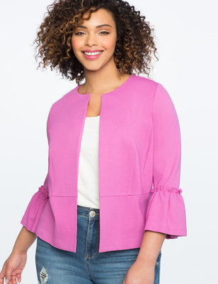 Ruffle Sleeve Jacket