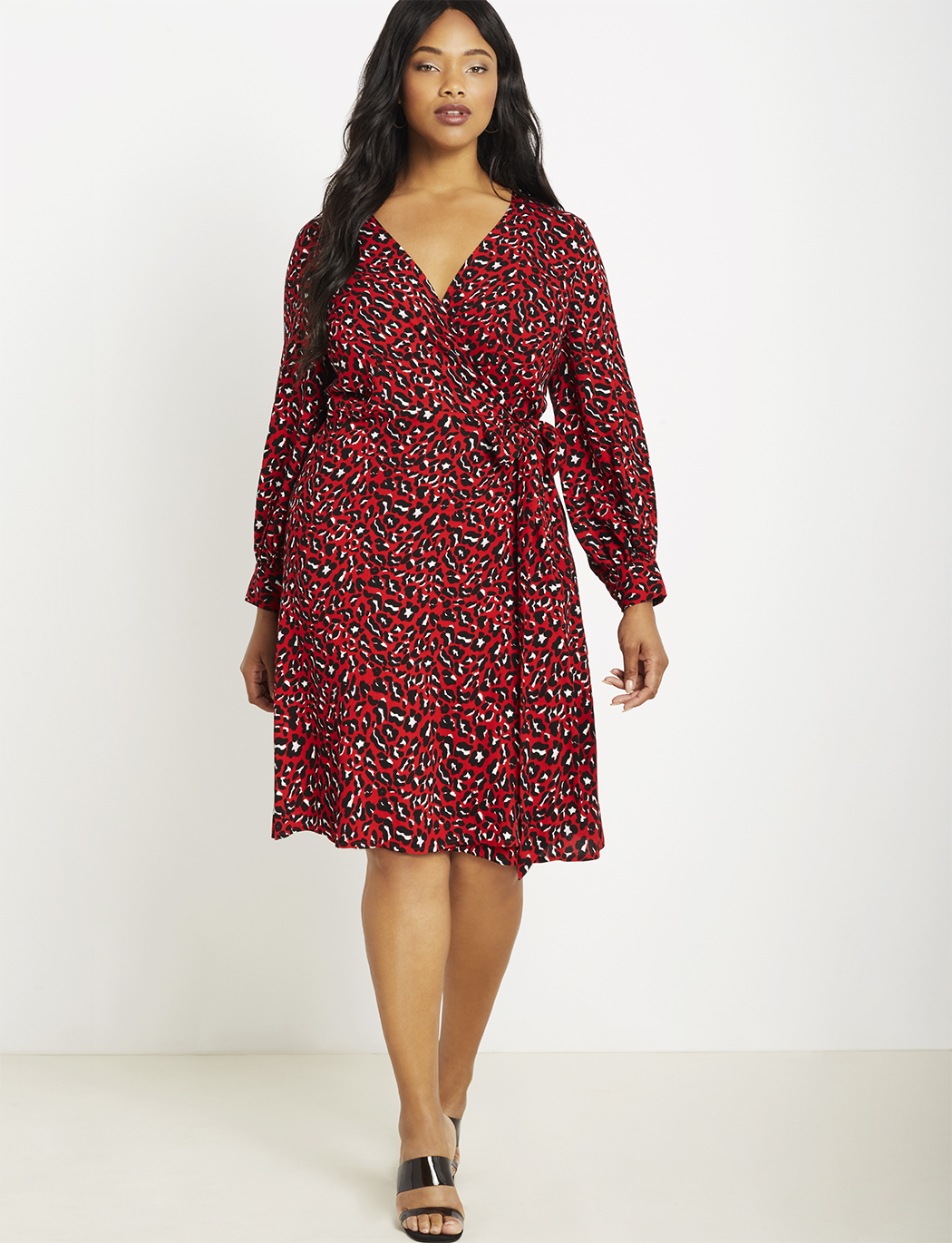 Long Sleeve Wrap Dress | Women\'s Plus Size Dresses | ELOQUII