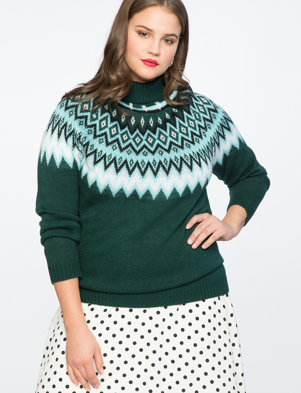 Fair Isle Sweater | Women's Plus Size Tops | ELOQUII