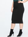 Ponte Knit Skirt Black