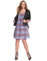 Printed Criss Cross Flare Dress Multi Africa Batik