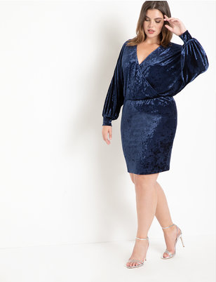 Surplice Dolman Sleeve Dress