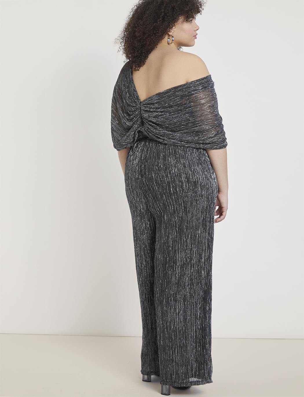 Shimmer Tiered Leg Jumpsuit