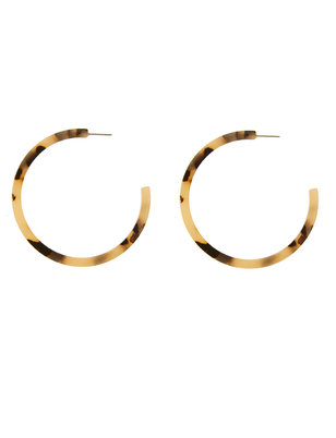 Tortoise Hoop Earrings