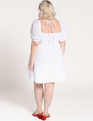 Puff Sleeve Square Neck Dress True White