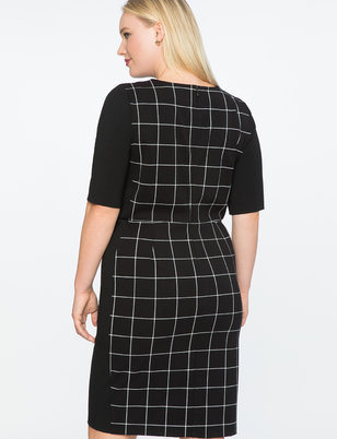 9-to-5 Windowpane Work Dress