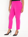 9-to-5 Stretch Pintuck Pant Berry
