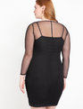 Embelished Mesh Dress Black