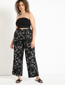 Printed Wide Leg Pant Portrait Mode