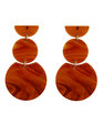Geometric Resin Earrings Amber