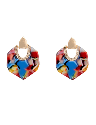 Multicolor Resin Earrings