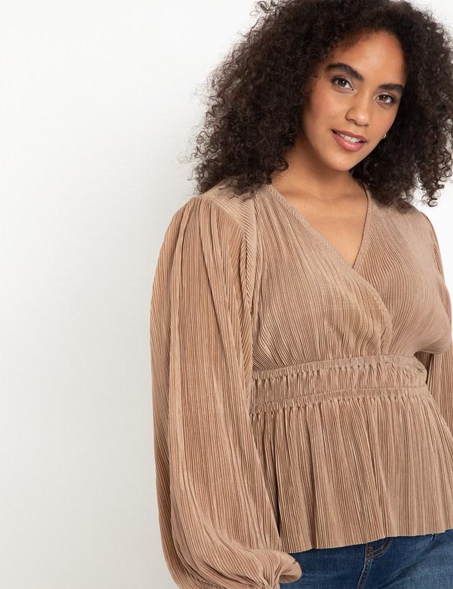 Crinkle Surplice Top