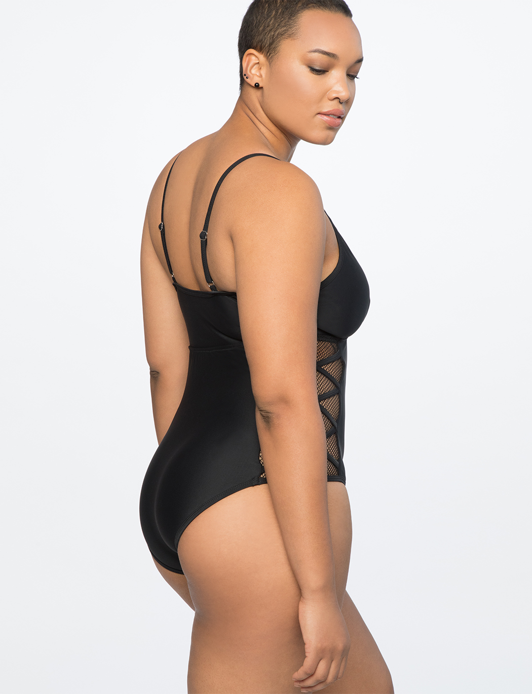 Mesh Detailed One Piece Swimsuit