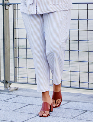 Striped Straight Leg Trouser