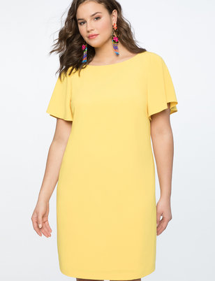 Flutter Sleeve Tee Dress