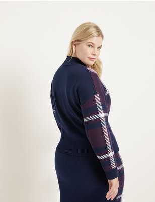 Plaid Intarsia Sweater