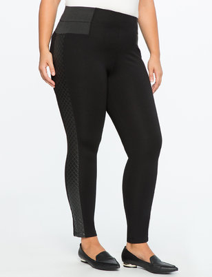 Miracle Flawless Quilted Side Stripe Legging