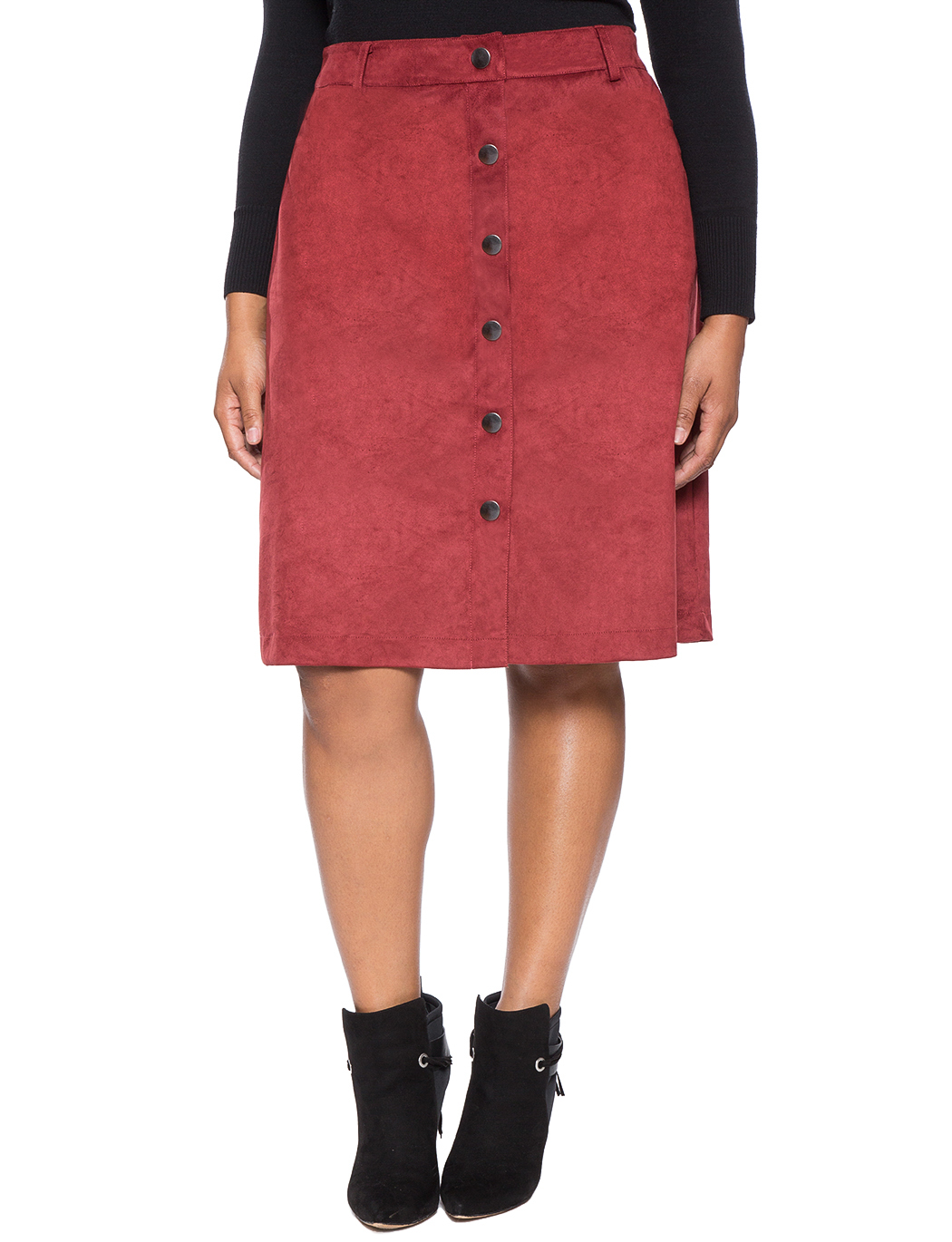 Studio Faux Suede Skirt