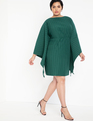 Drama Sleeve Dress Trekking Green
