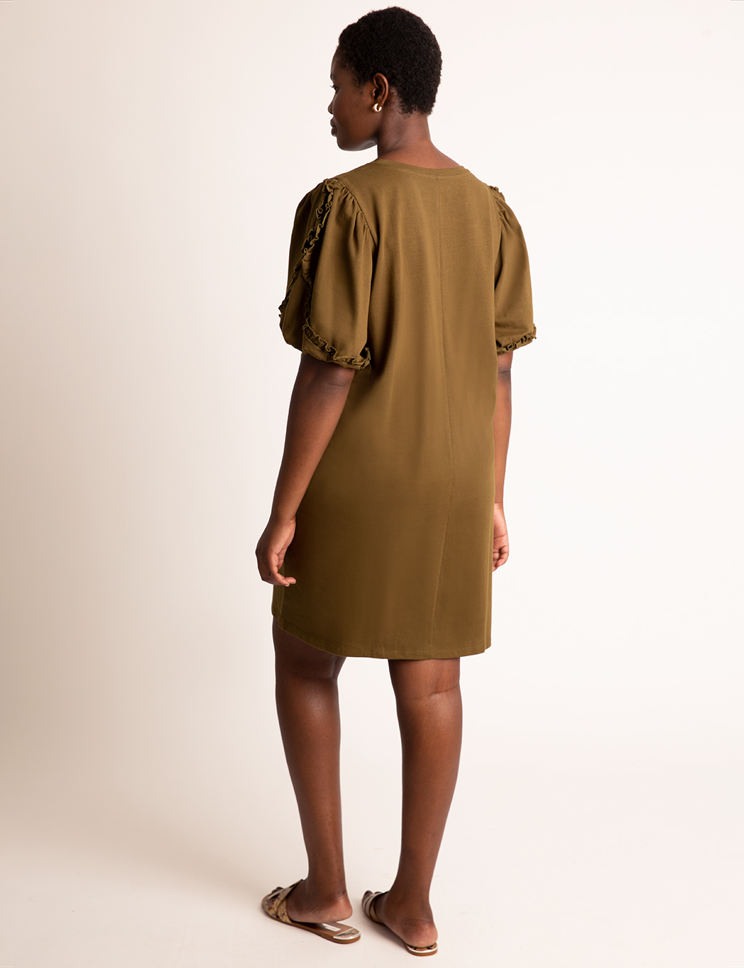 Puff Sleeve Easy Dress