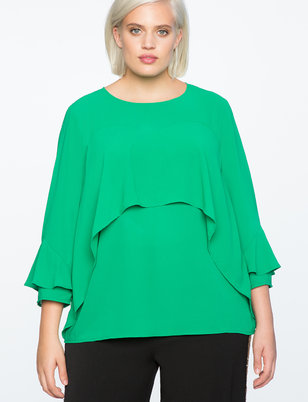 Flounce Layered Top