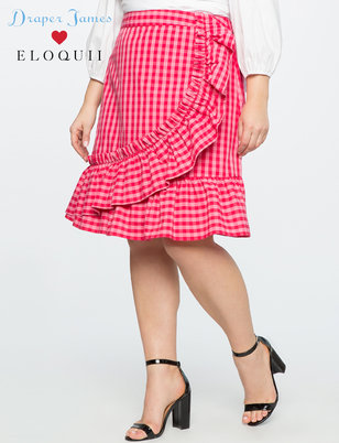Draper James for ELOQUII Gingham Skirt