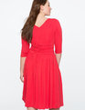 Cross Front Ruched Dress ROCOCCO RED