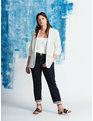 Essential Soft Blazer with Gathered Sleeve Soft White