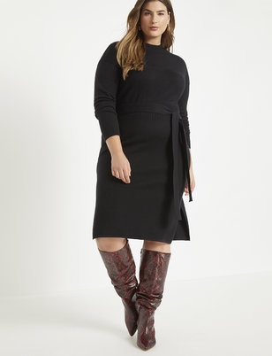 Tie Waist Sweater Dress