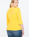 Asymmetrical Pleated Top Citrus