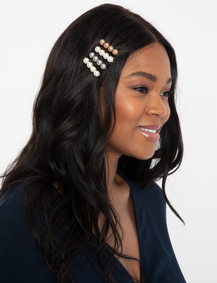 4 Pack Pearl Bobby Pins