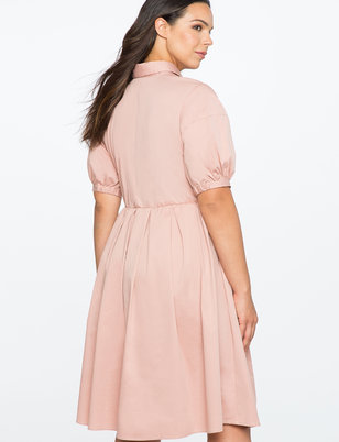 Fit and Flare Dress with Oversized Bow