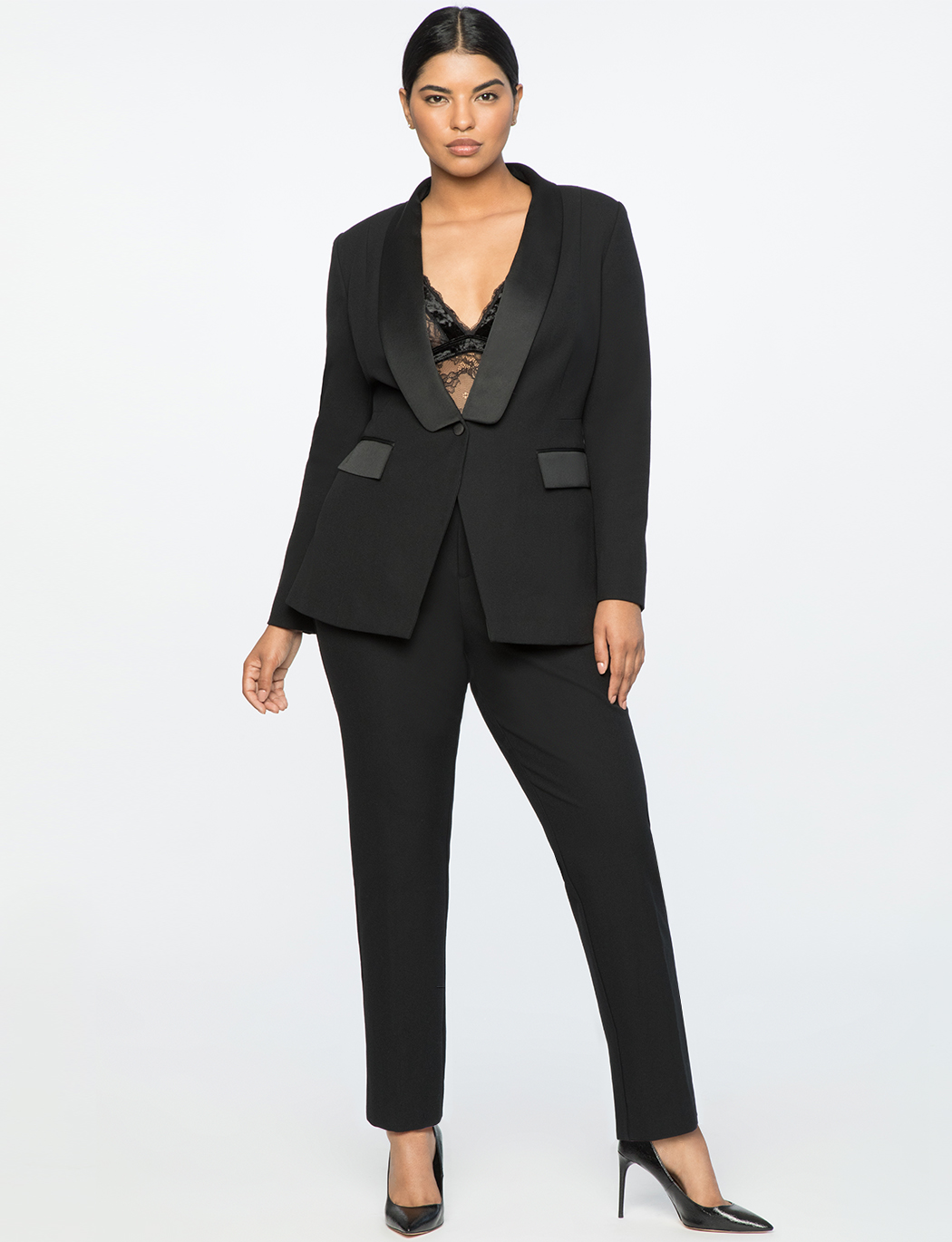 Jason Wu X ELOQUII Tux Pant Totally Black
