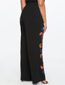 Studio Wide Leg Embroidered Trouser  Totally Black
