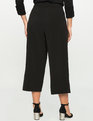 Wide Leg Button Culottes Black