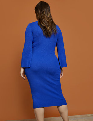 R29 x ELOQUII Ribbed Turtleneck Sweater Dress