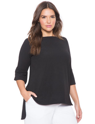 Textured Hi Lo Top
