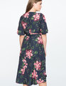 Floral Printed Wrap Dress NAVY PANSY PLAY