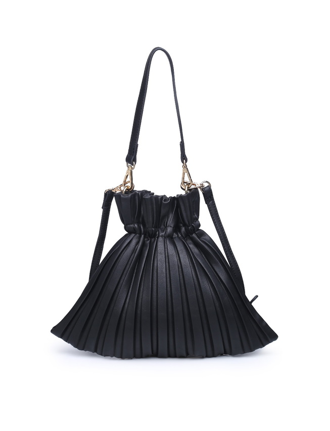 Pleated Satchel Bag