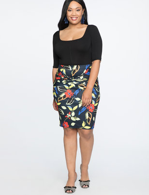 Twist Front Pencil Skirt