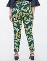 Kady Fit Printed Crepe Pant Blossoms Up Yellow
