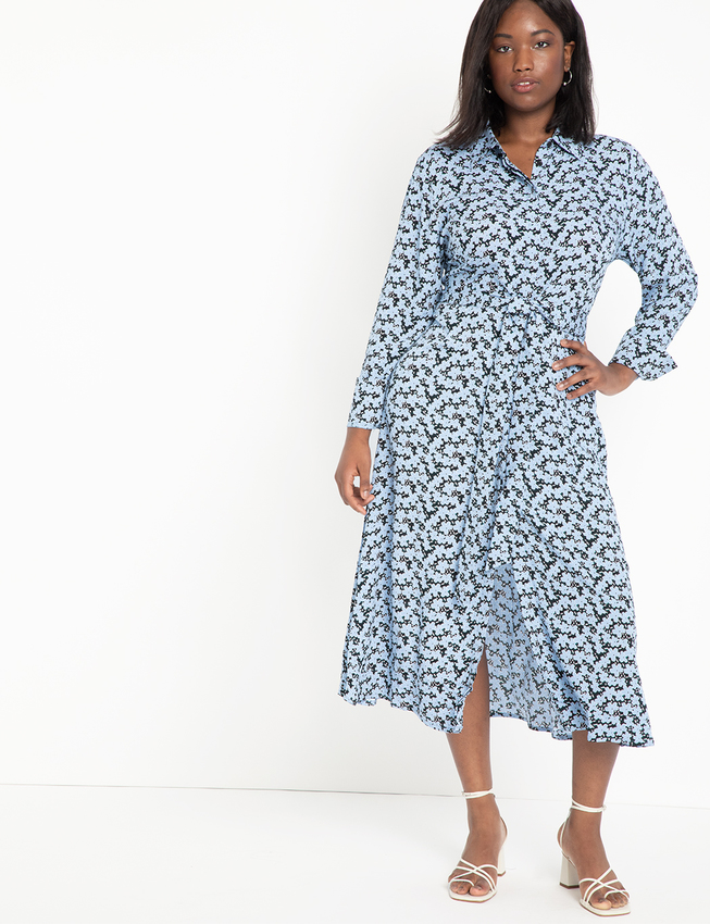 Relaxed Midi Collared Dress